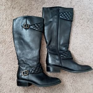 Ralph Lauren womens riding black leather boots 7